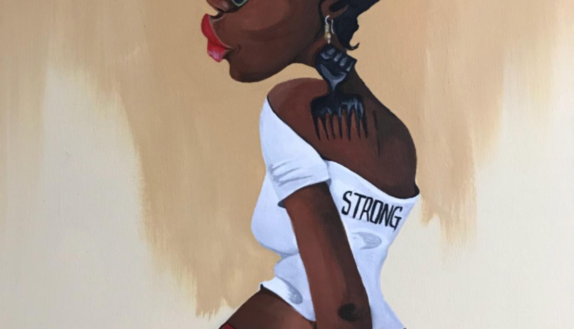 Be Strong artwork by Tiffany Glenn
