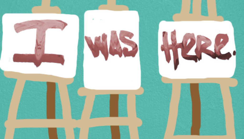 """I Was Here"" artwork by Stephanie Harris Dekit"